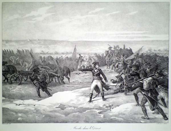 Théodore GERICAULT (Francia, 1791 – 1824) – MARCHE DANS LE DESERT (1822)