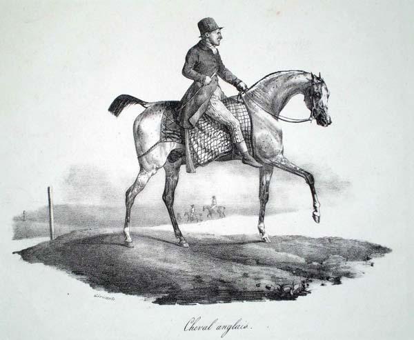 Théodore GERICAULT (Francia, 1791 – 1824) – CHEVAL ANGLAIS (1822)