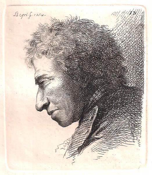 Benigno BOSSI (Arcisate, 1727 – 1792) – TESTA VIRILE (1754)