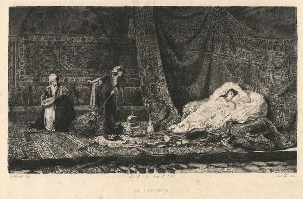 Alberto Maso GILLI (Chieri, 1840 – 1894) – LA FAVORITA da P. Blanchi