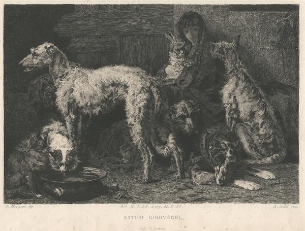 Alberto Maso GILLI (Chieri, 1840 – 1894) – ATTORI GIROVAGHI da P. Morgari