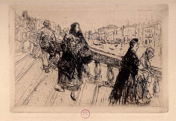 Norbert GOENEUTTE (Francia, 1854 – 1894) – UN PONT À VENISE