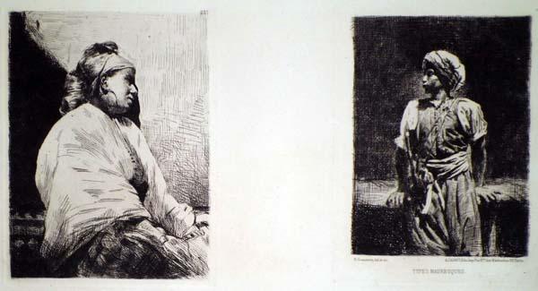Norbert GOENEUTTE (Francia, 1854 – 1894) – TYPES MAURESQUES