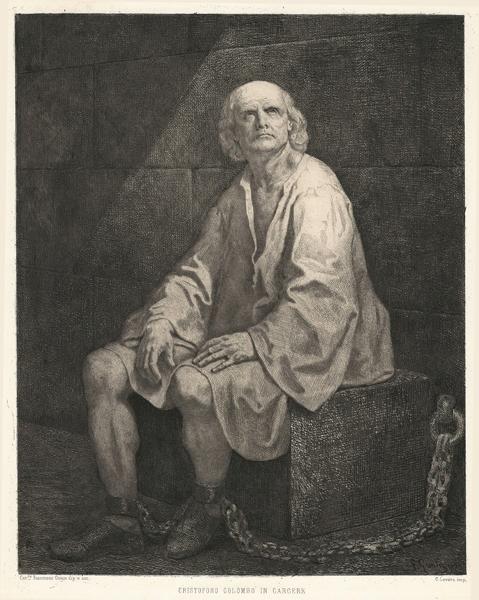 Francesco GONIN (Torino, 1808 – 1889) – CRISTOFORO COLOMBO IN CARCERE