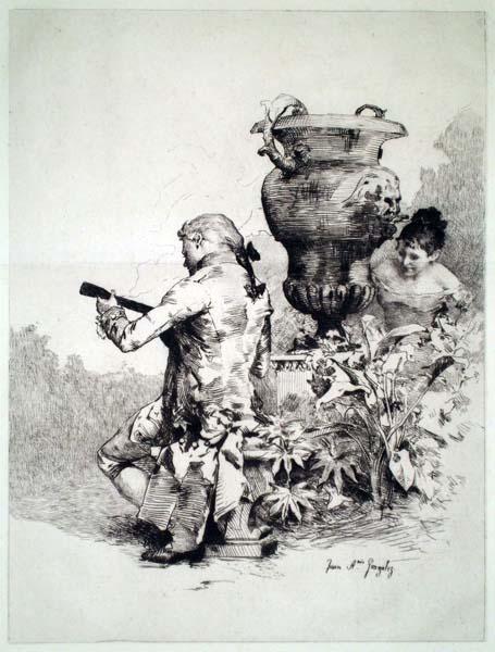 Juan Antonio GONZALEZ (Spagna, 1842 – 1914) – L'ECOUTE