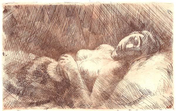 Hans GOTT (Germania, 1883 – 1974) – SCHLAFANDES MADCHEN