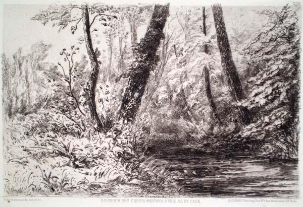 Charles Storm Van's GRAVESANDE (Olanda, 1841-1924) – SOUVENIR DES CRESSONNIERES À VEULES EN CAUX
