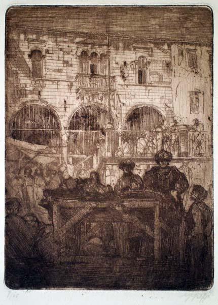 Giovanni GREPPI (Milano, 1884 – 1960) – GEMONA. IL MUNICIPIO