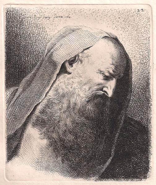 Benigno BOSSI (Arcisate, 1727 – 1792) – TESTA DI VECCHIO (1760)