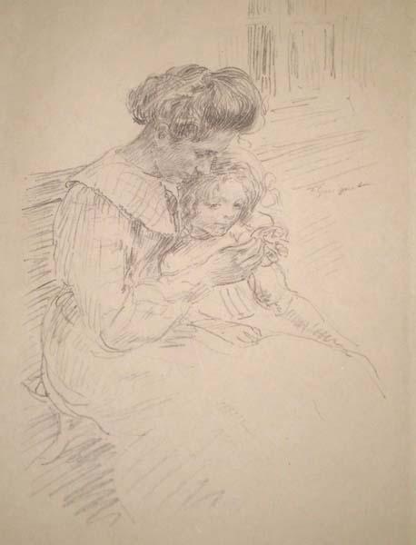 François-Joseph GUIGUET (Francia, 1860 – 1937) – LA LECON DE CROCHET