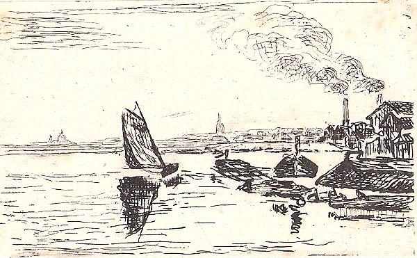 Jean GUILLAUMIN (Francia, 1841 – 1927) – UNE MARINE À CHARENTON