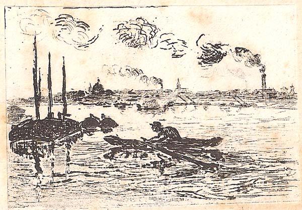 Jean GUILLAUMIN (Francia, 1841 – 1927) – LA SEINE VUE DE CHARENTON