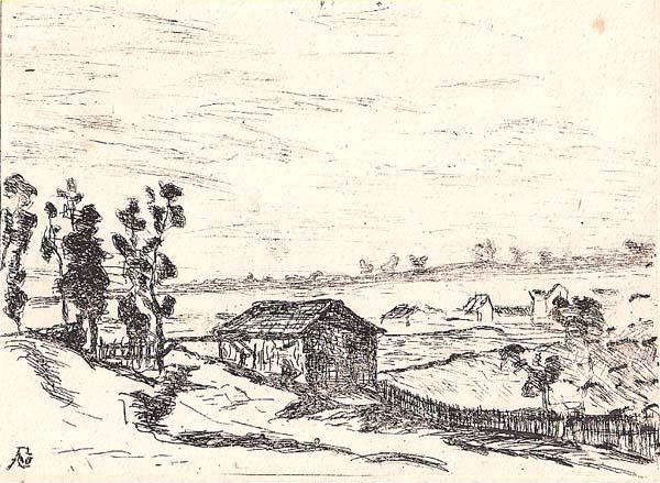 Jean GUILLAUMIN (Francia, 1841 – 1927) – LA PLATRIERE o L'ILE DE CASSEUIL (GIRONDE)
