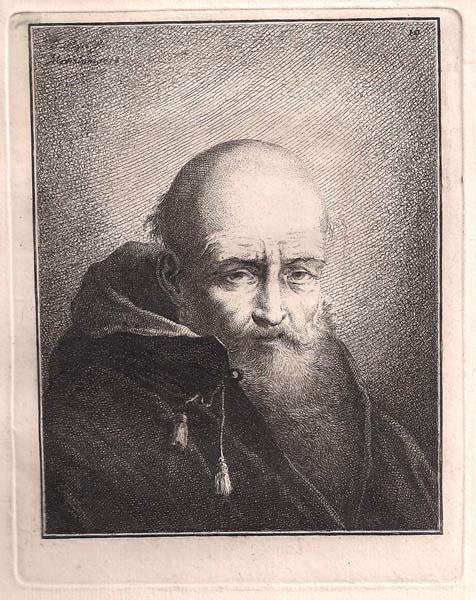 Benigno BOSSI (Arcisate, 1727 – 1792) – VECCHIO PELATO CON BARBA (1759)