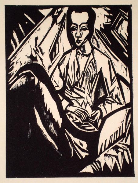 Erich HECKEL(Germania, 1883 – 1970) – KRANKES MADCHEN