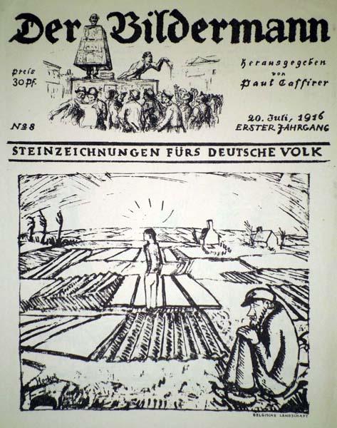 Erich HECKEL (Germania, 1883 – 1970) – FLANDRISCHE EBENE (BELGISHE LANDSCHAFT)