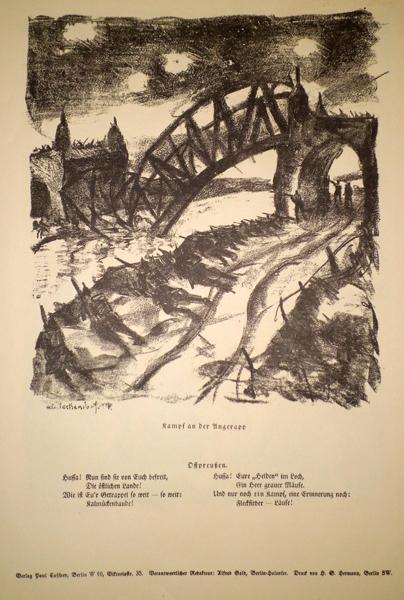 Franz HECKENDORF (Germania, 1888 – 1962) – KAMPF AN DER ANGERAPP
