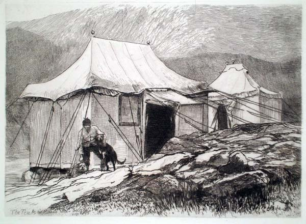 Hubert Von HERKOMER (Germania, 1849 – 1914) – THE TENTS (1880)