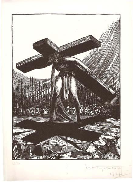 Fernand HERTEBERGER (Francia, 1882 – 1970) – ETERNEL CALVAIRE