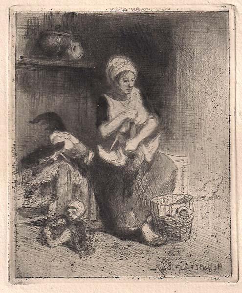 Louis Adolphe HERVIER (Francia, 1818 – 1879) – MERE ET ENFANT