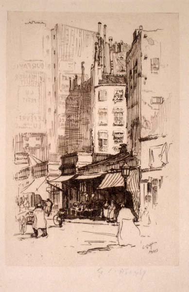 Lester George HORNBY (Stati Uniti, 1882 – 1956) – VIEILLES MAISONS