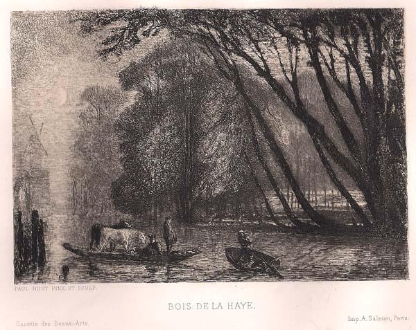 Paul HUET (Francia, 1803 – 1869) – BOIS DE LA HAYE