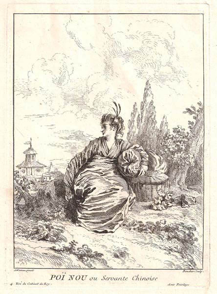 François BOUCHER (Francia, 1703 – 1770) – POI NOU OU SERVANTE CHINOISE