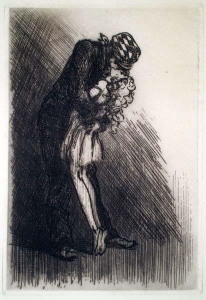 Louis ICART (Francia, 1888 – 1950) – IL BACIO