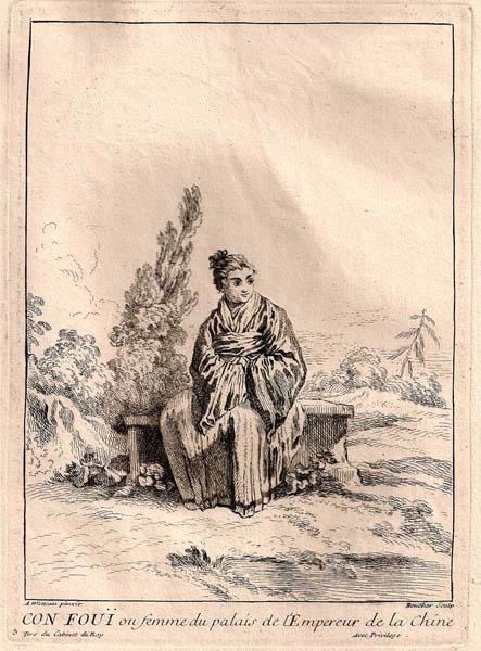 François BOUCHER (Francia, 1703 – 1770) – CON FOUI OU FEMME DU PALAIS DE…