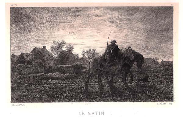 Charles JACQUE (Francia, 1813 – 1894) – LE MATIN (1864)