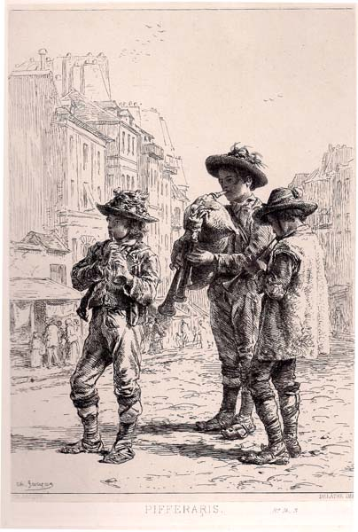 Charles JACQUE (Francia, 1813 – 1894) – PIFFERARIS (1864)