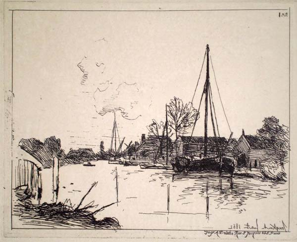 Joan-Barthold JONGKIND (Olanda, 1819 – 1891) – LE CANAL