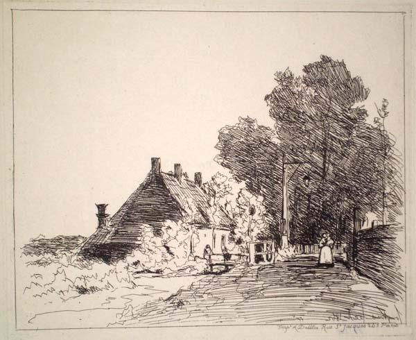 Joan-Barthold JONGKIND (Olanda, 1819 – 1891) – LA NOURRICE