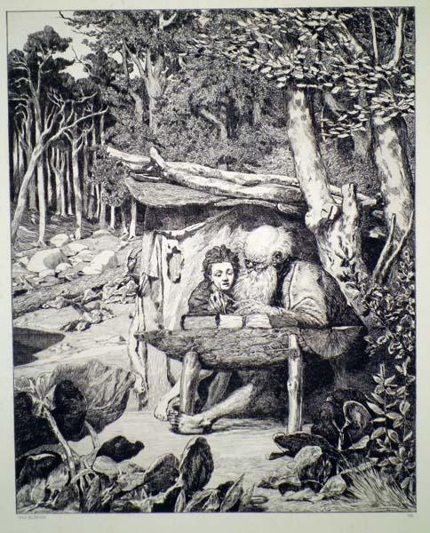 Max KLINGER (Germania, 1857 – 1920) – LA LEZIONE DI SCRITTURA DI SIMPLICIO