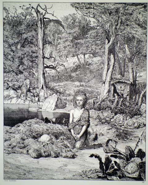Max KLINGER (Germania, 1857 – 1920) – SIMPLICIO SULLA TOMBA DELL'EREMITA