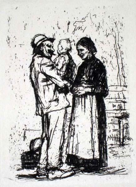 Kathe KOLLWITZ (Germania, 1867 – 1945) – BEGRUSSUNG (1892)