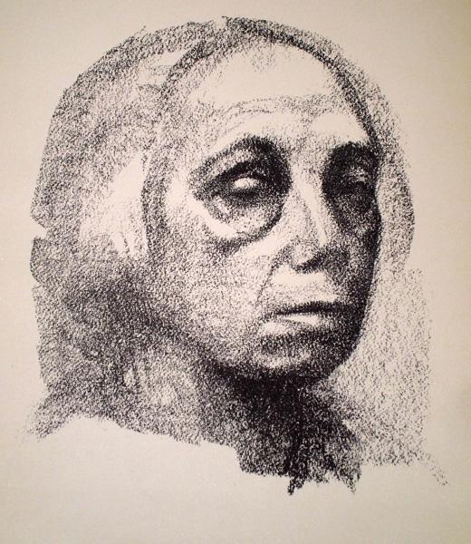 Kathe KOLLWITZ (Germania, 1867 – 1945) – KLEINES SELBSTBILDNIS (1920)