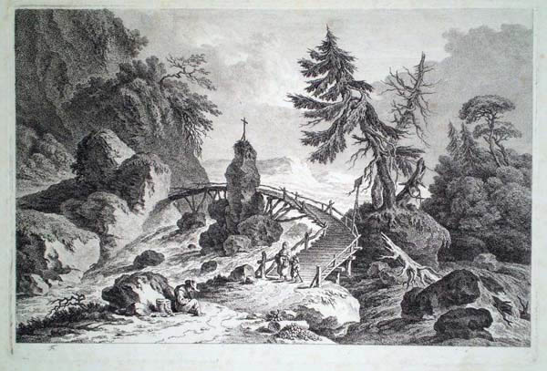 Friedrich Auguste BRAND (Austria, 1755 – 1806) – PAESAGGIO ALPINO