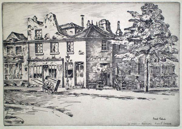 Ernest LABORDE (Francia, 1870 – 1935) – LA MAISON DU BOURREAU, RUE SAINT-JACQUES