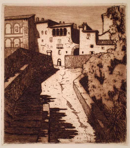Pierre LABROUCHE (Francia, 1876 – 1956) – CHEMIN MONTANT, À SIENNE