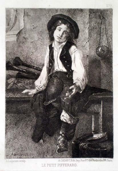 Adolphe LALAUZE (Francia, 1838 – 1906) – LE PETIT PIFFERARO