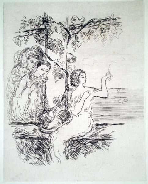 Pierre LAPRADE (Francia, 1875 – 1931) – FIGURE SOTTO UNA PERGOLA