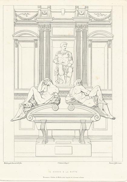 Paolo LASINIO (attivo XIX secolo) – IL GIORNO E LA NOTTE
