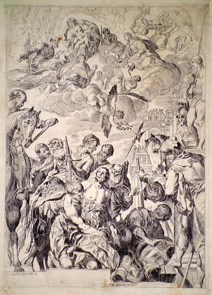 Pierre BREBIETTE (Francia, 1598 – 1650) – IL MARTIRIO DI SAN GIORGIO da il Veronese