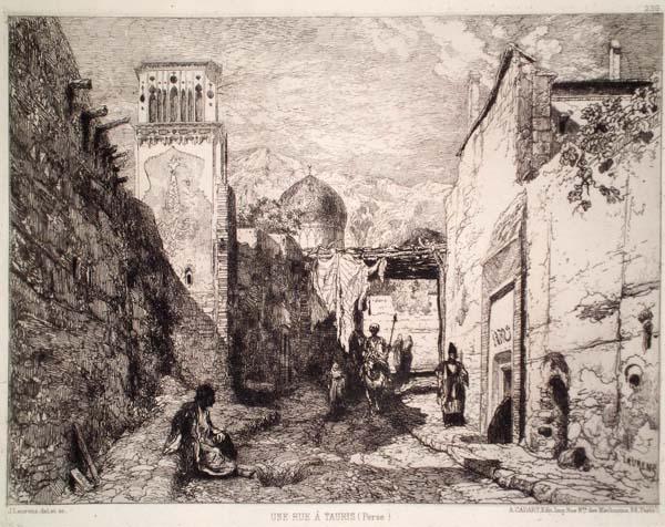 Jules LAURENS (Francia, 1825 – 1901) – UNE RUE À TAURIS (PERSE)
