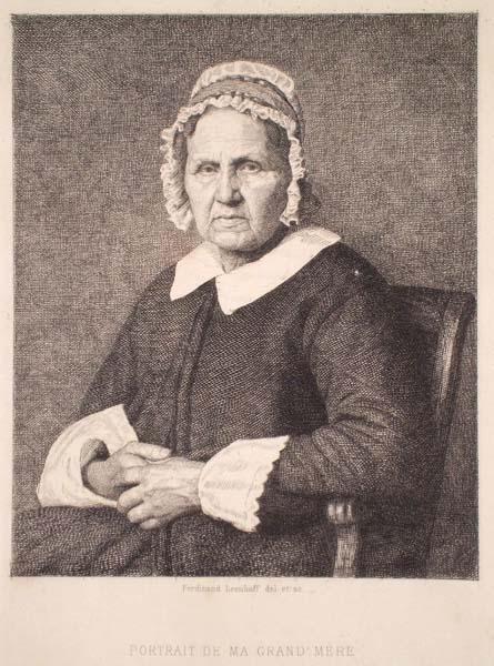 Ferdinand Carl LEENHOFF (Olanda, 1841 – 1914) – PORTRAIT DE MA GRAND MERE