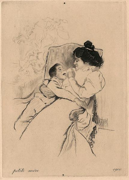 Louis LEGRAND (Francia, 1863 – 1951) – PETITE MERE (1900)