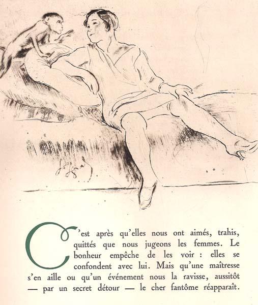 Louis LEGRAND (Francia, 1863 – 1951) – LE SINGE BAVARD