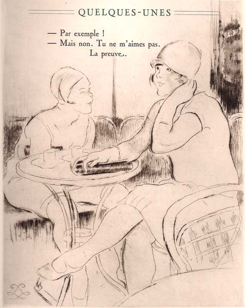 Louis LEGRAND (Francia, 1863 – 1951) – DEUX AMIES ATTABLEES AU CAFE