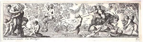 Pierre BREBIETTE (Francia, 1598 – 1650) – SATIRI E PUTTI